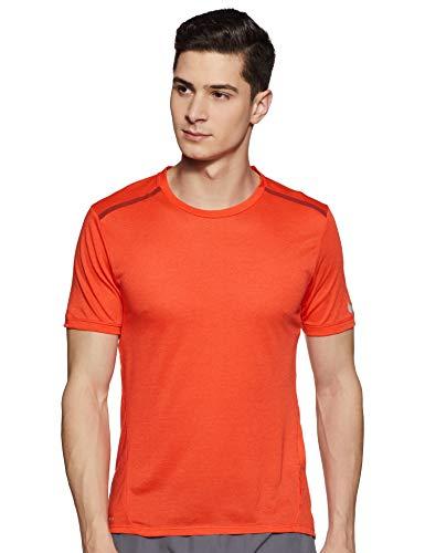 Nike Men's Solid Regular fit T-Shirt (724913-852_Max Orange/Dark Cayenne_S)
