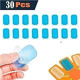 XinXinLan 30Pcs Patchs Electrostimulation Gel Pads Remplacement de Feuille pour EMS Ceinture Musculaire Abdominale Electrostimulation - 4×6 cm