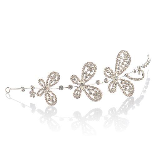 Remedios Silber Stirnband Haarband Braut Haarschmuck Kopfstück
