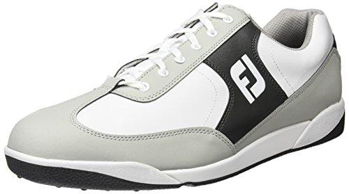 Footjoy AWD XL Casual, Chaussures de golf pour homme - différents coloris - Multicolore (Blanc /Noir/Gris), 42 EU (110M) EU