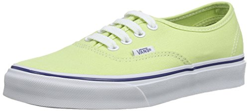 Vans U Authentic Sneakers, Unisex Verde (Shadow Lime/True White)