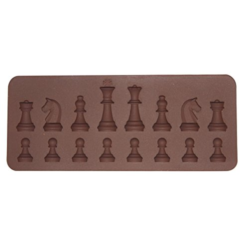 BESTONZON Bandejas Chocolate Forma Ajedrez Silicona