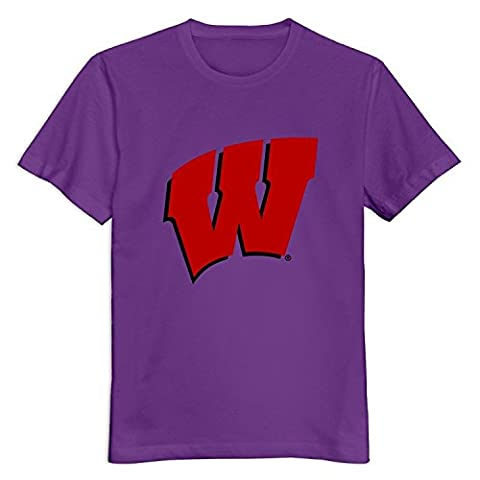 Men NCAA Wisconsin Badgers Logo Custom 100% Cotton T-Shirt By Mjensen
