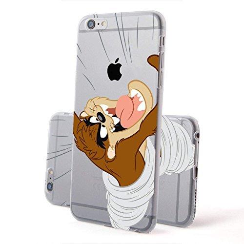 finoo | IPHONE 6 / 6S Lizensierte Hardcase Handy-Hülle | Transparente Hart-Back Cover Schale mit Looney Tunes Motiv | Tasche Case mit Ultra Slim Rundum-schutz | Tweety freut sich Taz jagt Logo