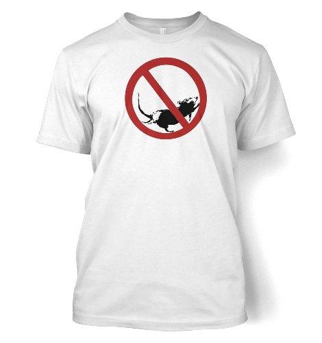 No Stopping Rat Sign Männer T-Shirt Weiß