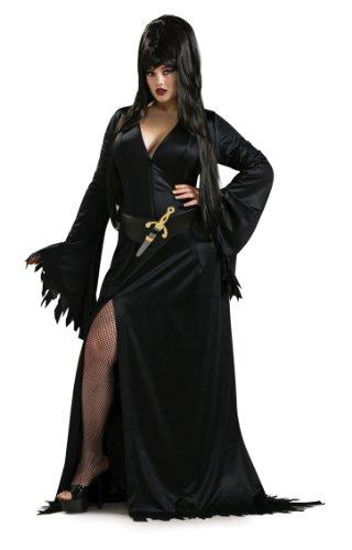 Für Erwachsenen Elvira Kostüm - Rubie's Kostüm Elvira Herrscherin der Dunkelheit plus size