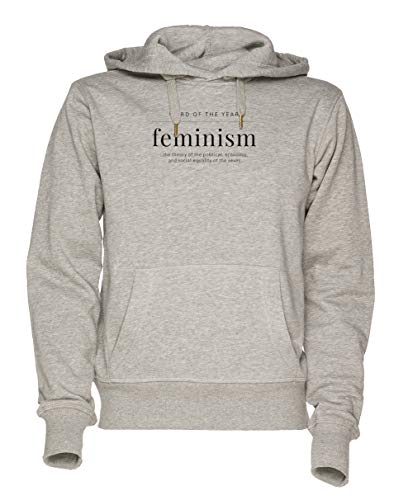 Jergley Word of The Year 2017 Feminism Unisex Grau Sweatshirt Kapuzenpullover Herren Damen Größe L | Hoodie for Men and Women Size L (Gerechtigkeit Hoodie)