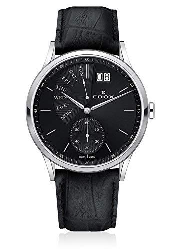 Edox 34500 3 NIN - Reloj de Pulsera analógico para Hombre (Cuarzo, con Fecha y Fecha de la Semana en el día de los votantes)