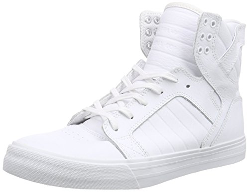 Supra Unisex-Erwachsene SKYTOP High-Top, Weiß White-RED WWR), 40 EU (Supra Top White High)