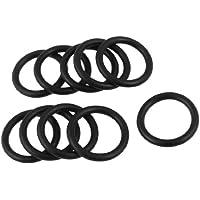 30 Stk 25 mm x 3,5 mm schwarz Flexible Nitril Gummi O-Ring Ölstoppscheibe Tüllen