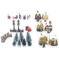 Toyland® Mini Christmas Village & Shop Scene Set with LED Lights - Christmas Decorations (25 Piece Village)