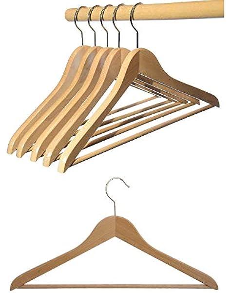 vernickelter drehbarer Metallhaken 12 St Kleiderb/ügel aus Buchenholz Wasserlack Hagspiel Kleiderb/ügel aus Holz Made in Austria Kleiderb/ügel Buchenholz Natur lackiert