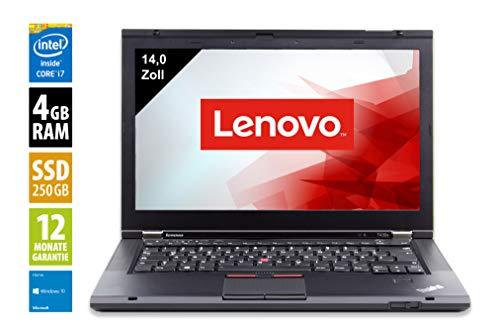 Lenovo ThinkPad T430s | Notebook | Laptop | 14,0 Zoll (1600x900) | Intel Core i7-3520M @ 2,9 GHz | 4GB DDR3 RAM | 256GB SSD | DVD-Brenner | Windows 10 Home (Zertifiziert und Generalüberholt)