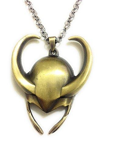 Collar con colgante con diseño del casco de Loki de la película «Thor: El Mundo Oscuro»