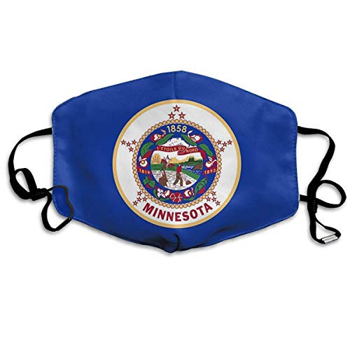 Minnesota Nylon State Flag PM 2.5 Anti Pollution Mask Military Washable Dust Respirator Cotton Mouth Masks with -