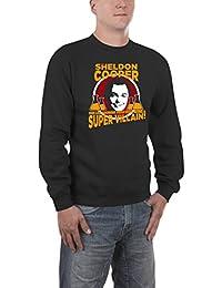 Touchlines Herren Pullover Sheldon Super Villain