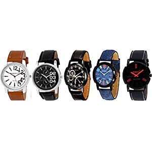 DCH Analogue Multicolor Dial Combo Pack Of 5 Men's & Boy's Watche