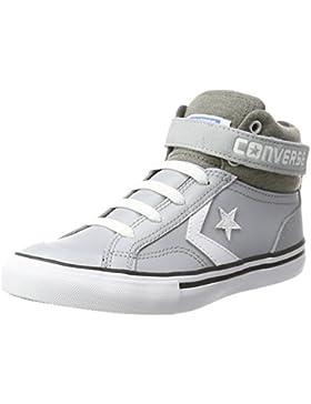 Converse Unisex-Kinder Pro Blaze Strap Hi Wolf Grey/Storm Wind Hohe Sneaker