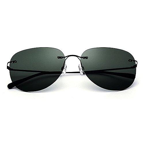 Yiph-Sunglass Sonnenbrillen Mode Herren Sonnenbrille Ovale Form Frameless TR90 Rahmen UV-Schutz für Driving Baseball Laufen Radfahren Angeln Golf
