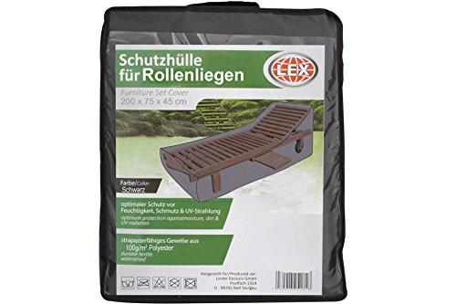 Unbekannt LEX Schutzhülle für Gartenliege bis 200 x 75cm Sonnenliege L