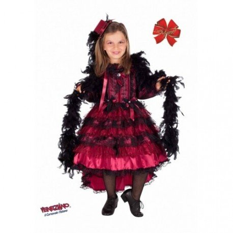 COSTUME di CARNEVALE da BALLERINA DEL SALOON BABY vestito per bambina ragazza 1-6 Anni travestimento veneziano halloween cosplay festa party 5088 Taglia 5