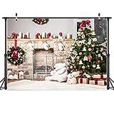 AIIKES 8x6FT Mooie Beer Kerstboomversiering Voor Thuis Fotografie Achtergronden Kerst Bloemen Achtergrond Foto Achtergrond Geschenken 10-302