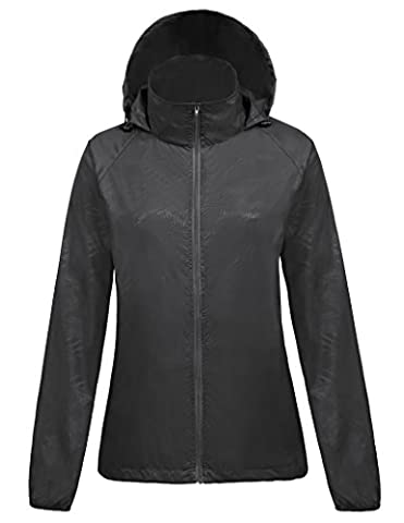 Femme Jacket Manteau Femme Imperméable Pliable Capuche Manches Longues Taille XL FR1001-1