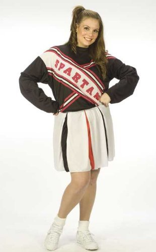 (Spartan Cheerleader Female Adult Costume Plus Size)