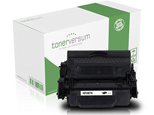 Tonerversum Premium Toner-Kartusche (Schwarz), kompatibel zu HP CF287X/87X, Druckerzubehör, Patrone für Laserdrucker von HP