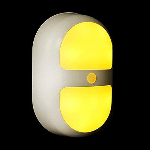 Refoss Bewegungs Sensor Nachtlichter Kabelloses batteriebetriebenes Auto/Ein / Aus in der Nacht, ideal für Treppen, Badezimmer, Schlafzimmer, Babyzimmer, Küche (Warm White) -