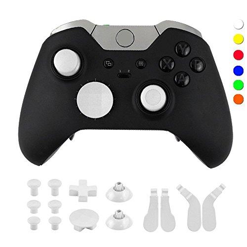 Fokine Xbox One Controller Full Button Set Mod Kits Wireless Gamepad Joystick Controller für Xbox One Elite Konsole Joystick, weiß