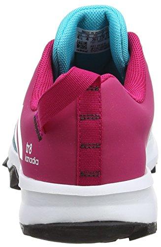 adidas Kanadia 8 K, Chaussures de Course Mixte Enfant Multicolore (Pink/Bleu)
