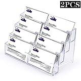 BTSKY Visitenkartenhalter, Acryl, 2 Stück 8 Pocket