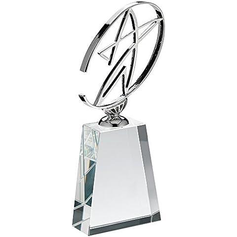 Metal Estrella Trofeo de cristal bloque, 8,5
