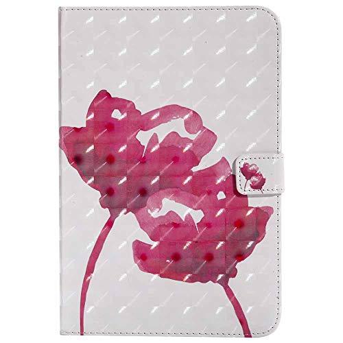 Galaxy Tab A 9.6 -Étui Billionn Ultra Svelte Bling Coloré La peinture 3D Modèle PU Cuir Retourner Coque Portefeuille Stand Protecteur Étui pour Samsung Galaxy Tab A 9.6 Pouce SM - T560 Rose Rouge