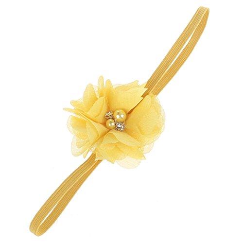 hen Baby Kleinkind Blume Stirnband Haarband Baby Mädchen Zubehör Headwear für Kleinkinder (Gelb) ()