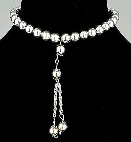 Tesbih Rosenkranz (Perlen aus Metall Ø 8mm - Länge ca. 19cm) -