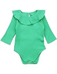 POLP Bebé Mameluco (◉ω◉) Recién Nacido Bebé Unisex Impresión Monos Conjuntos  para 99a8f4285dd87