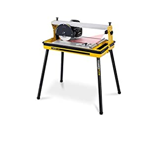 Fliesenschneidemaschine Fliesenschneider Nassschneider 600W mit Laser, Diamant-Trennscheibe und Wasserbehälter - Art. POWX240