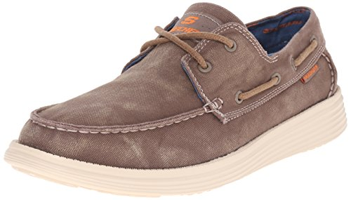 Skechers Status Melec, Men's Mocassins, Brown, 8 UK