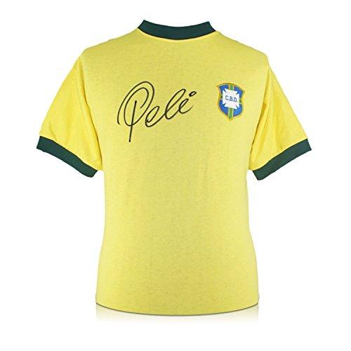 exclusivememorabilia.com Camiseta de fútbol de Brasil firmada por Pelé