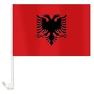 1 x Autofahne Autoflagge 45 x 30 Albanien Fahne Fahnen Flagge Flaggen EM 2016 mit Halterung