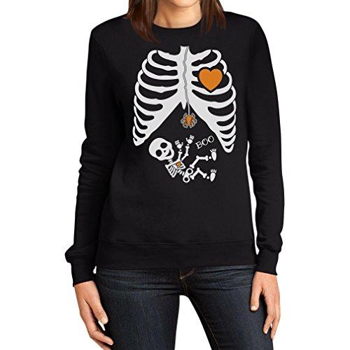 Baby Skelett - Witziges Halloween Outfit Kostüm Frauen Sweatshirt XX-Large Schwarz