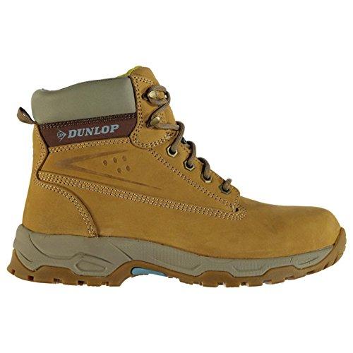 DunlopOn Site Damen Sicherheitsstiefel Leder Rutschfest Honig 39 - Stiefel Steel Arbeit Wasserdicht Toe