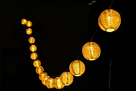 Finether 5.6 m Guirlande Lumineuse Solaire Lumières 20 LED Lampion