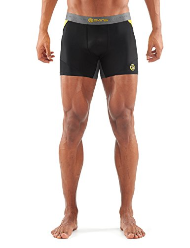 Skins Herren DNAmic Shorts, Black/Citron, L, DA99050099238 (Herren Skin Tight)
