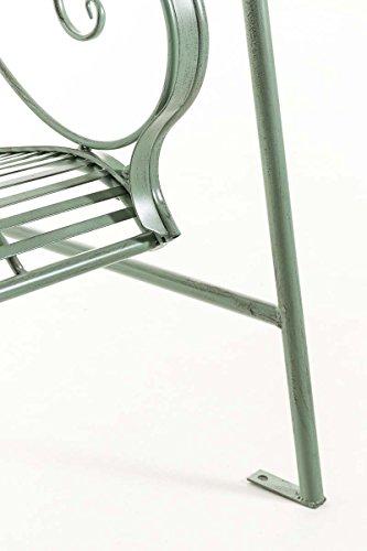 CLP Garten Hollywoodschaukel YLENIA, 2 Sitzer / 3 Sitzer, Landhaus-Stil, Metall (Eisen), bis zu 6 Farben wählbar antik-grün - 8
