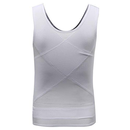 Derssity Herren Unterhemd Weiß