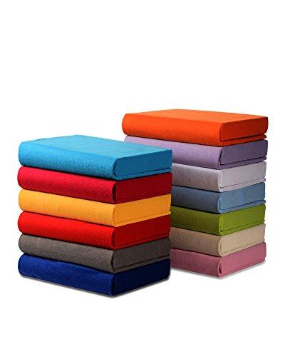 myHomery Kinder Spannbettlaken - Spannbetttuch - Matratzenbezug Kinderbett - Bettlaken 100% Baumwolle - Betttuch Babybett Babyspannbettlaken Royal | 60/70x120/140cm Basic: 125g/m²