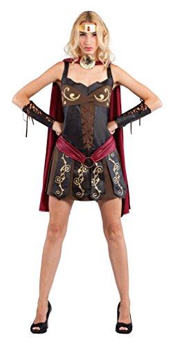 Karneval-Klamotten Kostüm Sexy Römische Gladiatorin Dame Karneval Krieger Damenkostüm Größe 42 (Sexy Krieger Kostüm)